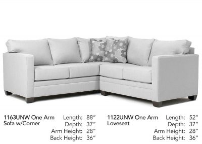 University Place Sectional Neutral 1163UNW-1122UNW