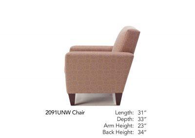 Bravo Chair Side 2091UNW