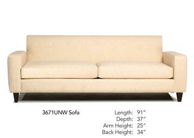 Encore Sofa 3671UNW Sofa