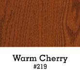 Warm Cherry Finish