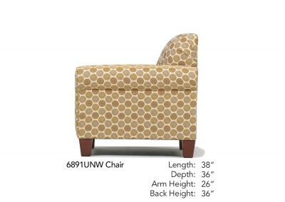 Spencer Chair Side 6891UNW