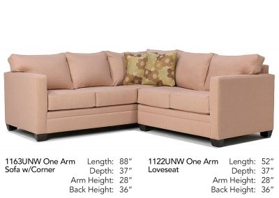University Place Sectional 1163UNW-1122UNW