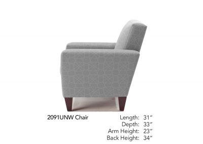 Bravo Chair Side Neutral 2091UNW