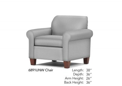 Spencer Chair Neutral 6891UNW