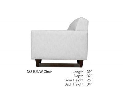 Encore Chair Side Neutral 3661UNW