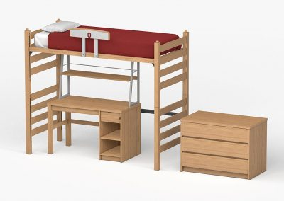 Loft Bed, Desk, iTrek and Chest