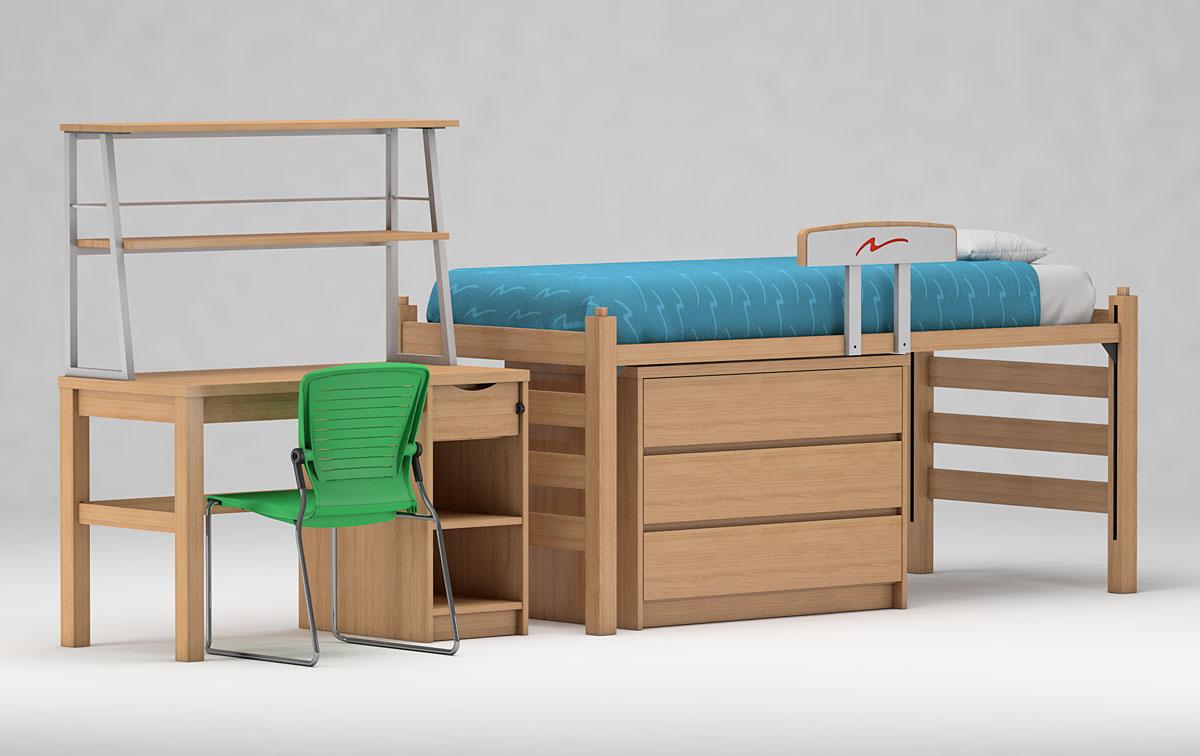 Quatro Bed and Desk with i-Trek